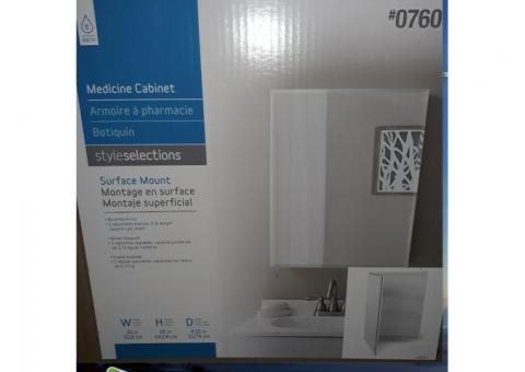 Mirrored Medicine Cabinet - NEW in box